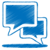72x72px size png icon of blue talk