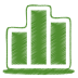 72x72px size png icon of green chart