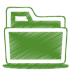 72x72px size png icon of green folder