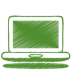 72x72px size png icon of green laptop