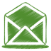 72x72px size png icon of green mail open