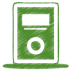 72x72px size png icon of green mp3 player