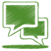 72x72px size png icon of green talk