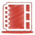 72x72px size png icon of red address book