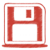72x72px size png icon of red disk