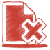72x72px size png icon of red document cross