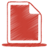 72x72px size png icon of red document