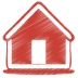 72x72px size png icon of red home