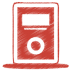72x72px size png icon of red mp3 player