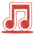 72x72px size png icon of red music