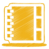 72x72px size png icon of yellow address book