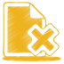 72x72px size png icon of yellow document cross