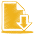 72x72px size png icon of yellow document download