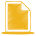 72x72px size png icon of yellow document