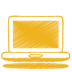 72x72px size png icon of yellow laptop