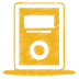72x72px size png icon of yellow mp3 player