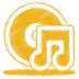 72x72px size png icon of yellow music cd