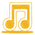 72x72px size png icon of yellow music