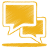 72x72px size png icon of yellow talk