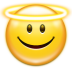 72x72px size png icon of emotes face angel