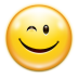 72x72px size png icon of emotes face wink