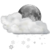 72x72px size png icon of status weather snow scattered night