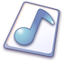 72x72px size png icon of Wave file