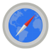 72x72px size png icon of Internet safari with map