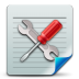 72x72px size png icon of Document config
