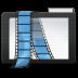 72x72px size png icon of Folder Dark Videos