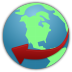 72x72px size png icon of globe service