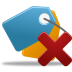 72x72px size png icon of Bookmark delete
