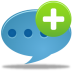 72x72px size png icon of Comment add