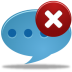 72x72px size png icon of Comment delete