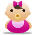 72x72px size png icon of baby girl