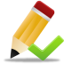 72x72px size png icon of edit validated