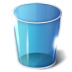 72x72px size png icon of trash empty