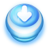 72x72px size png icon of Button Blue Arrow Down