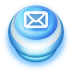 72x72px size png icon of Button Blue Mail