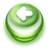 72x72px size png icon of Button Green Arrow Left
