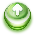 72x72px size png icon of Button Green Arrow Up