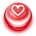 72x72px size png icon of Button Red Love Heart