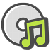 72x72px size png icon of Audio cd