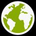 72x72px size png icon of midori globe