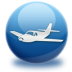 72x72px size png icon of airplane