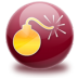 72x72px size png icon of bomb