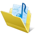 72x72px size png icon of Folder my music