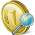 72x72px size png icon of coin search