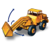 72x72px size png icon of Hatra Tractor Shovel with Movement