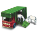 72x72px size png icon of Horse Box with Two Horses